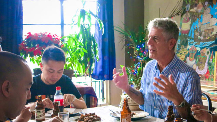 Bourdain's travels led him to peoples' tables, where he could learn about the food and culture of a place