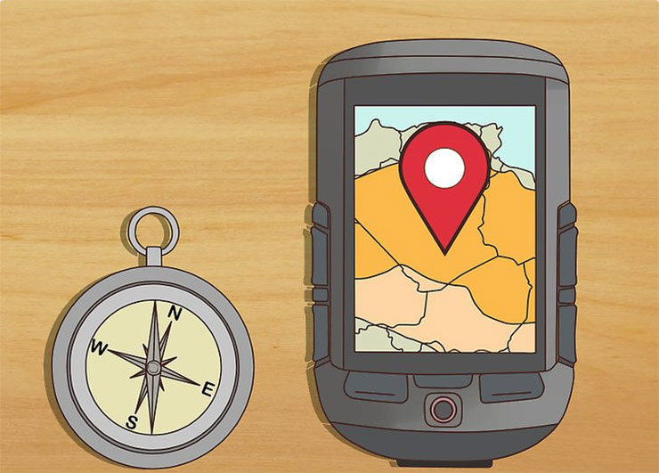 Bring a compass or portable GPS