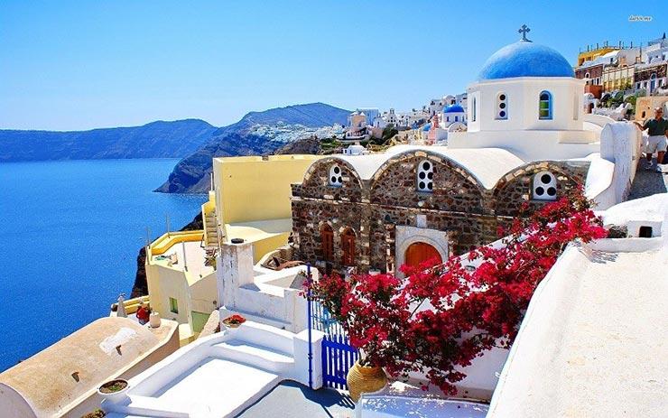 جزیره سانتورینی یونان، جلوه زیبایی طبیعت
